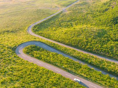 Roadscape in Oga